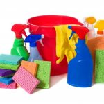 What means are used when cleaning the office cleaning company?